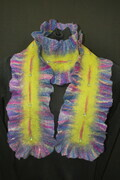 """Bright Lights "" - Hand felted, beaded wool scarf"