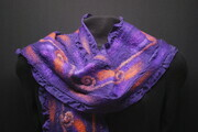 """Magical Moment"" - ruffled silk and wool scarf"
