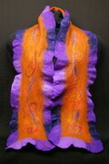 """Medieval Muse "" - ruffled wool scarf"