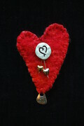"""Two Hearts that Beat as One"" - brooch"