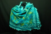 """Under the Sea"" - large wool and silk wrap"