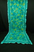 """Under the Sea""  - large wool and sillk wrap"